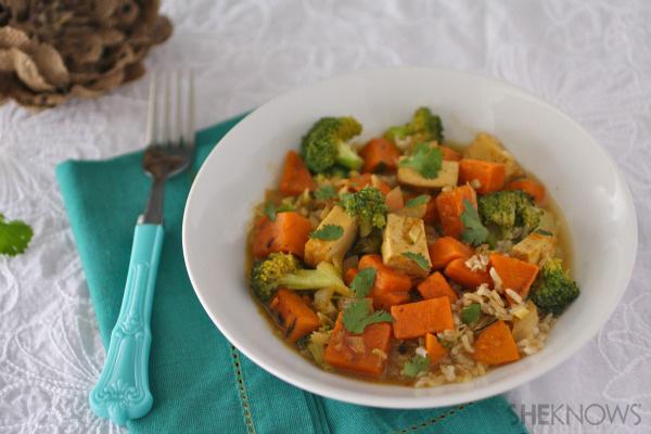 Sweet potato and tofu curry