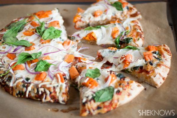 Fall harvest vegetable pizza