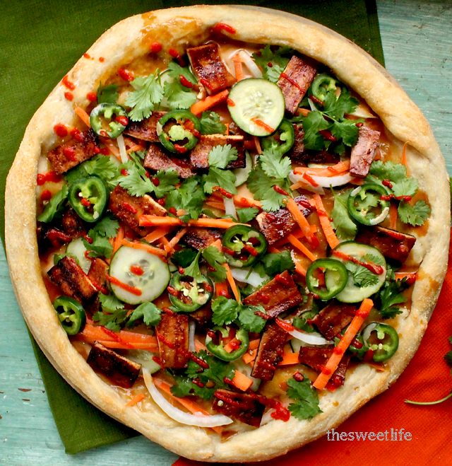 vegan bahn mi pizza