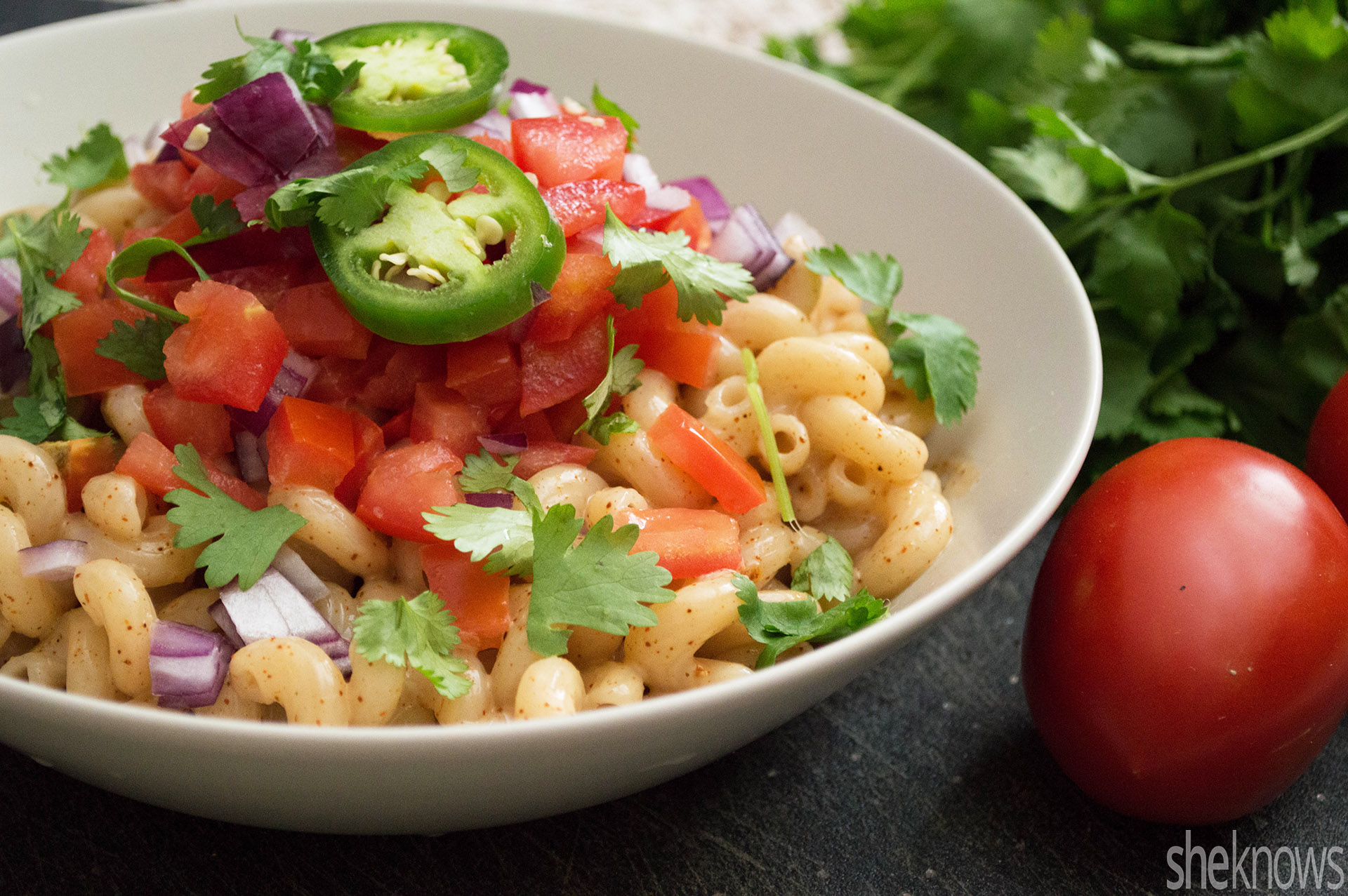 vegan Mexican mac and cheese