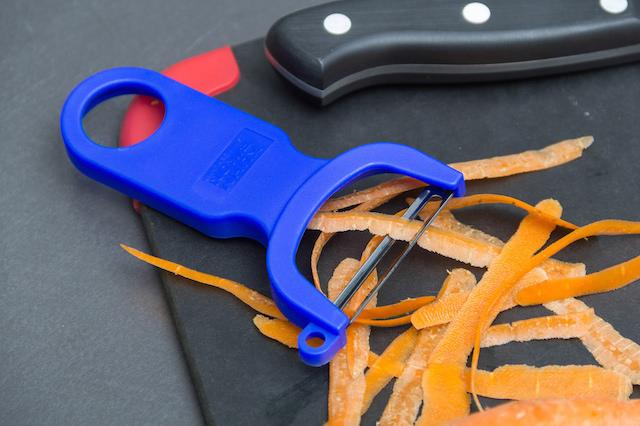 carrot peelings