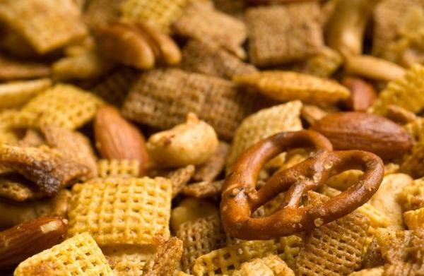 Homemade party snacks