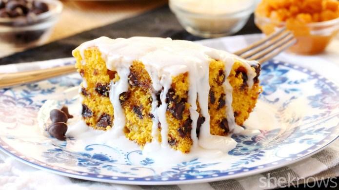 Pumpkin-chocolate chip cornbread — turn a