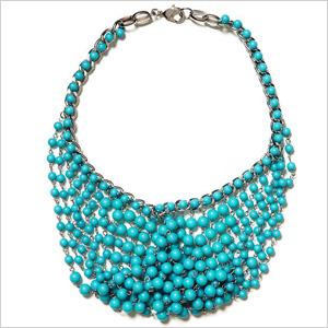 Beaded maze necklace
