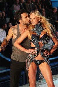 Adam Levine and Anne Vyalitsina at the Victoria Secret Fashion Show