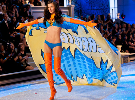 Adriana Lima at the Victoria Secret 2011 Fashion Show