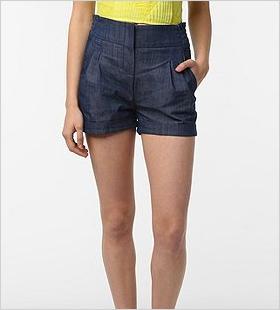 Pleat-front shorts