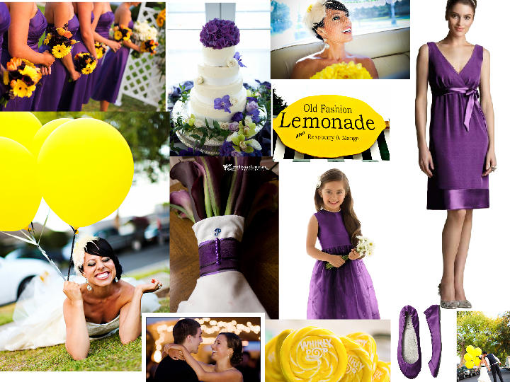 Violet and yellow - wedding colors