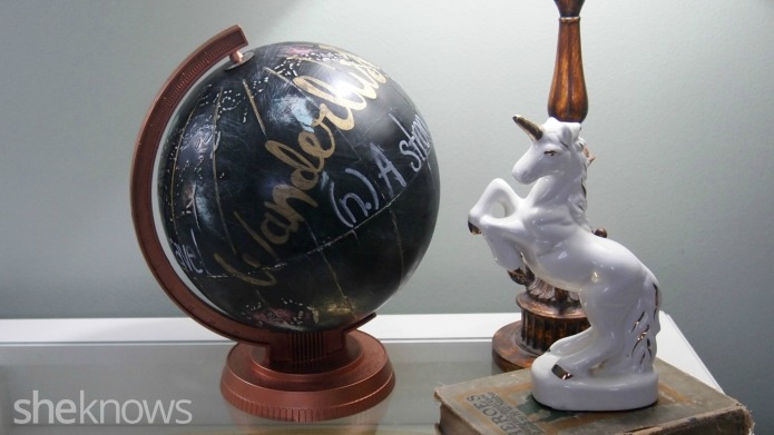 Upcycle a globe into a DIY