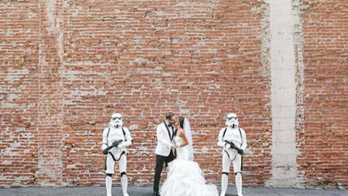 A Star Wars-themed wedding that's surprisingly