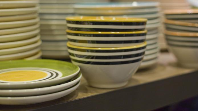 Colorful dishware to replace your thrift