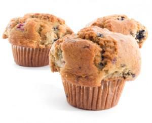 Vegan Blueberry Almond Muffins
