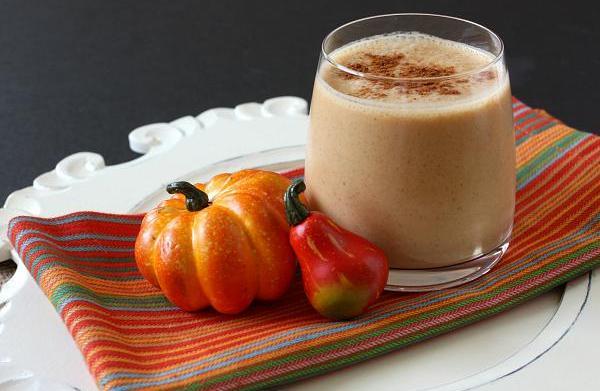 Chai pumpkin Greek yogurt smoothie
