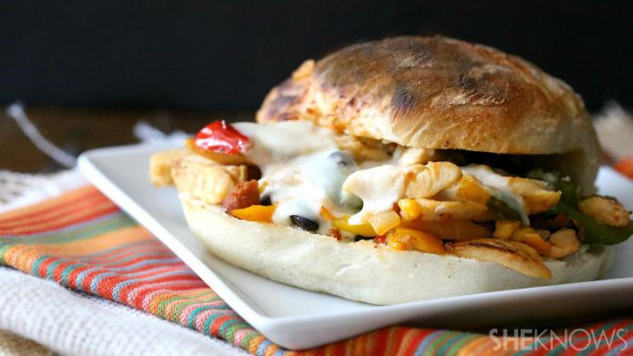 Southwestern chicken cheesesteaks are the sandwich