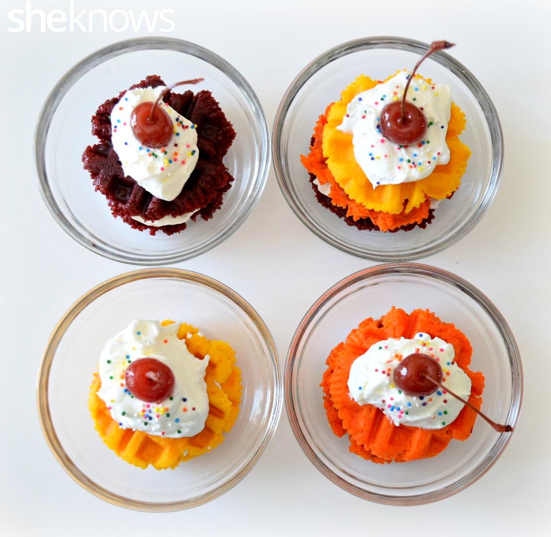 waffle cupcake 1