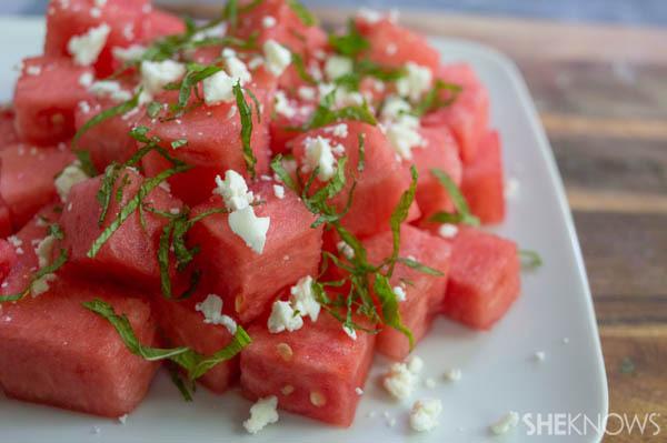 Watermelon Feta and Mint Salad Recipe | SheKnows