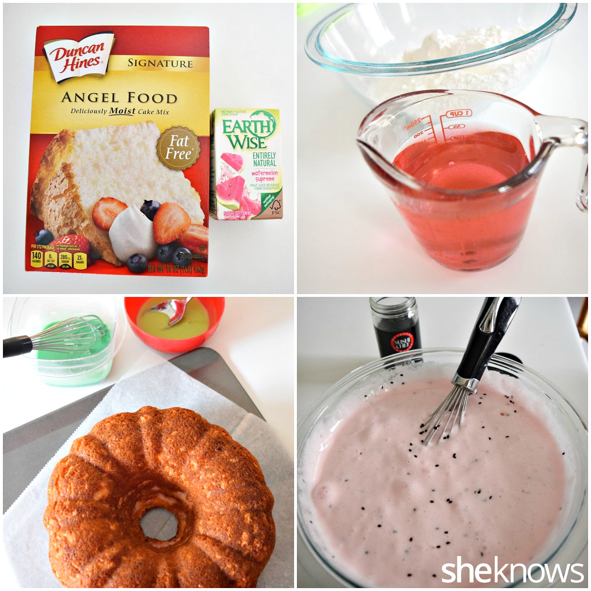 how to make watermelon bundt cake