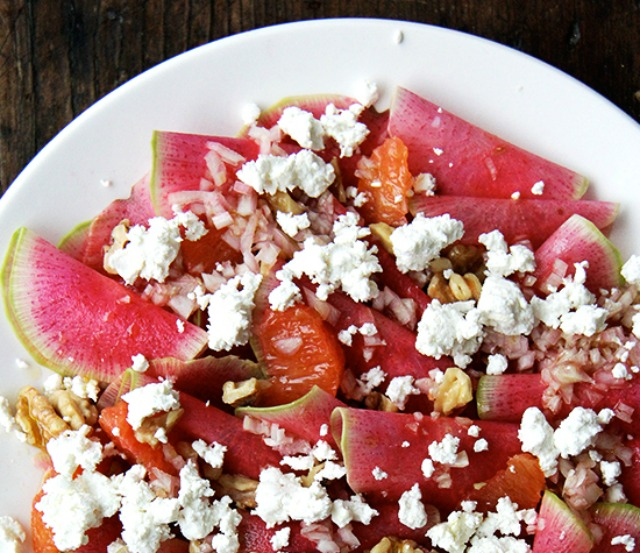 Watermelon salad for a low calorie snack