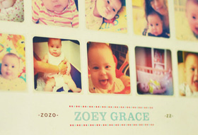 Baby's first year poster from Paperfingers