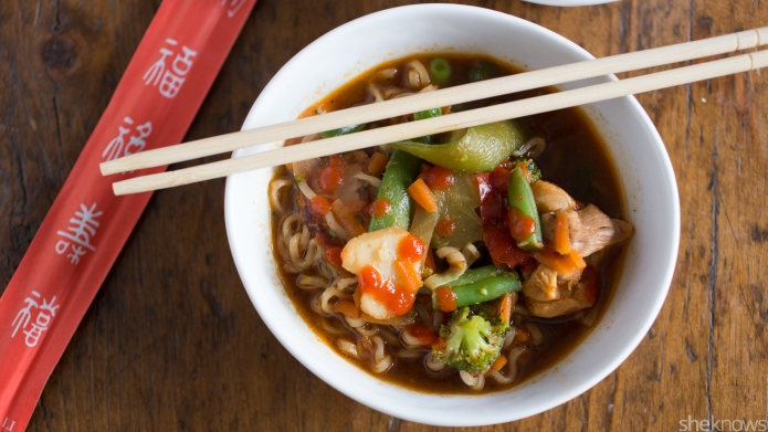 One-Pot Wonder: Sriracha chicken ramen from