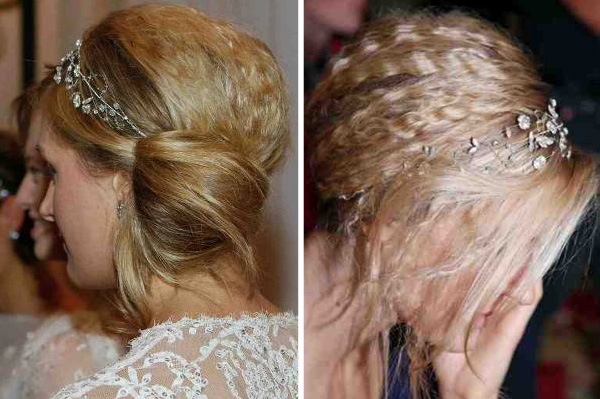 Wedding Day Hairstyle Crimped Low Side Bun Sheknows
