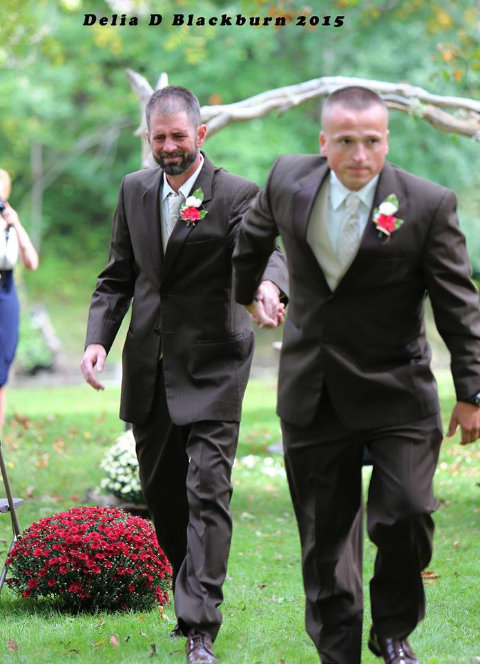 father and stepfather come together for daughter's wedding