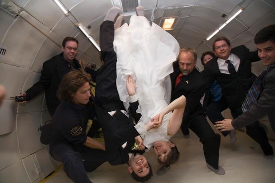 Weightless wedding
