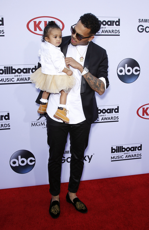 Chris Brown and Daughter Royalty at 2015 Billboard Music Awards