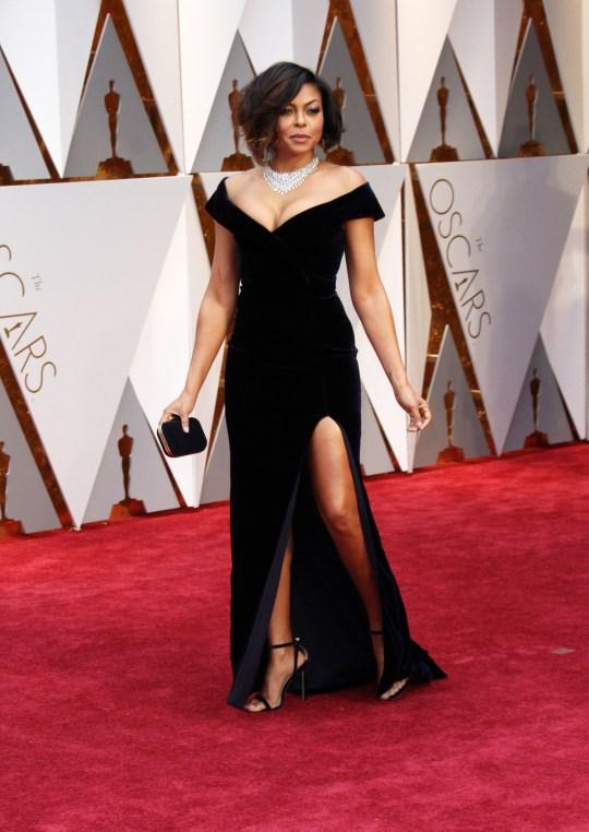 Taraji P. Hensen on Oscars Red Carpet