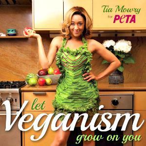 Tia Mowry goes vegan for PETA: