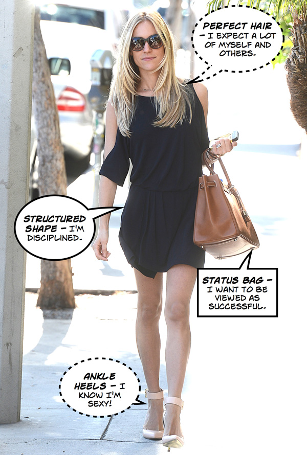 What does Kristin Cavallari's outfit mean?