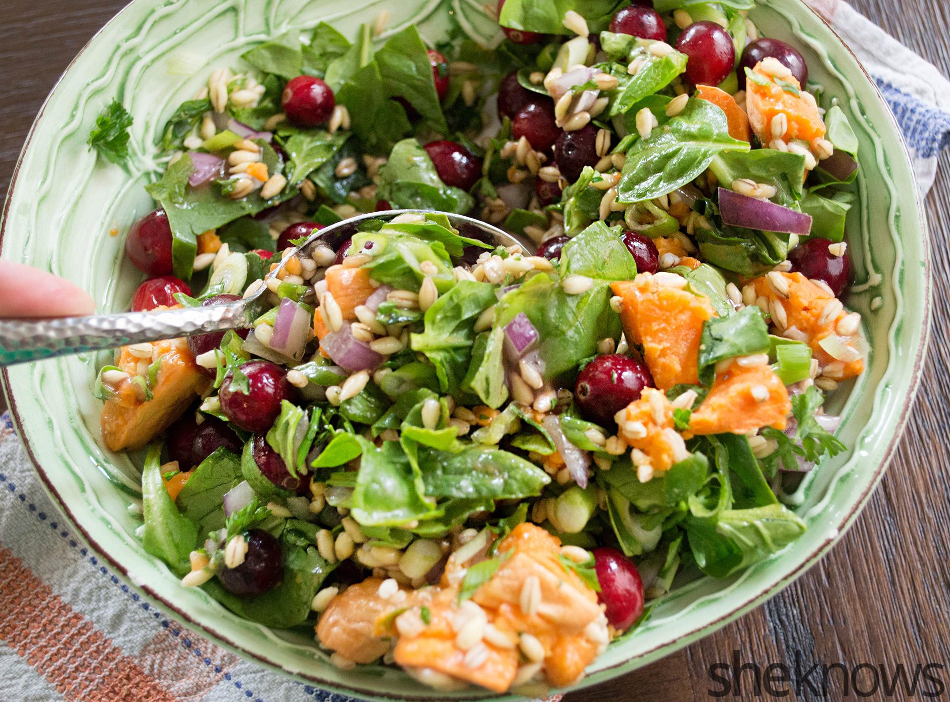 cranberry wheat berry salad