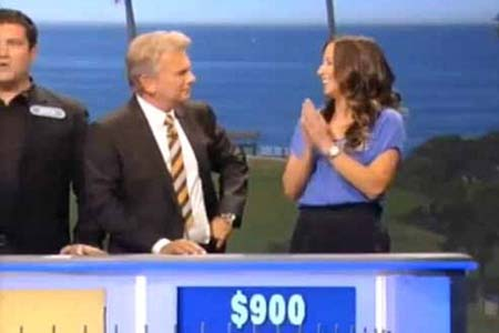 Caitlin Burke answers Wheel of Fortune question with just one letter showing