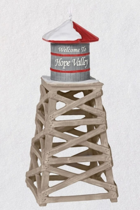 The Hope Valley Water Tower Ornament.
