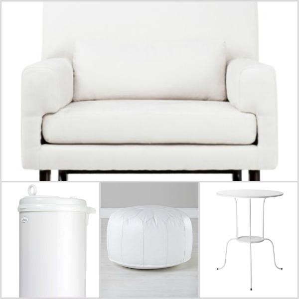 Winter white nursery furniture