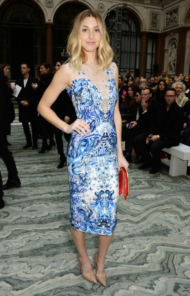 Whitney Port at London Fashion Week AW15
