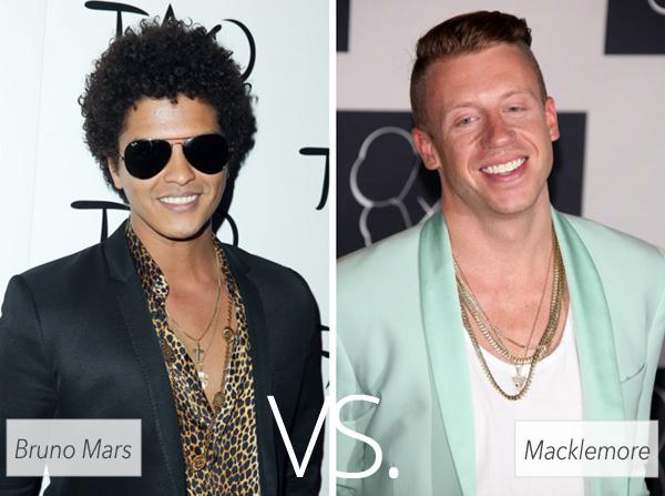 Who's hotter: Bruno Mars vs. Macklemore