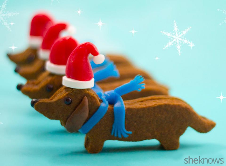 Santa wiener dogs