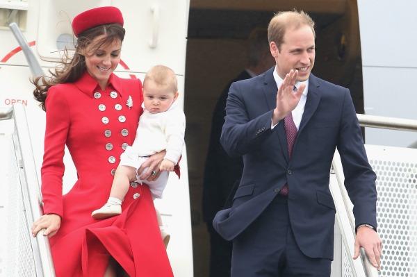 Duke and Duhess of Cambridge Prince George