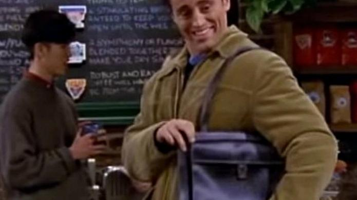 Joey's man bag on Friends is