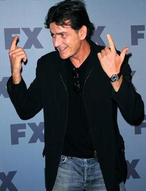 """Outraged Charlie Sheen """"fires"""" Selma Blair,"""