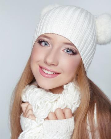 Woman wearing bad winter makeup