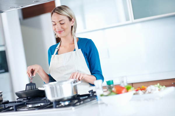 Woman cooking healthy meal
