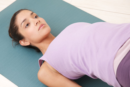 Woman doing pelvic raise