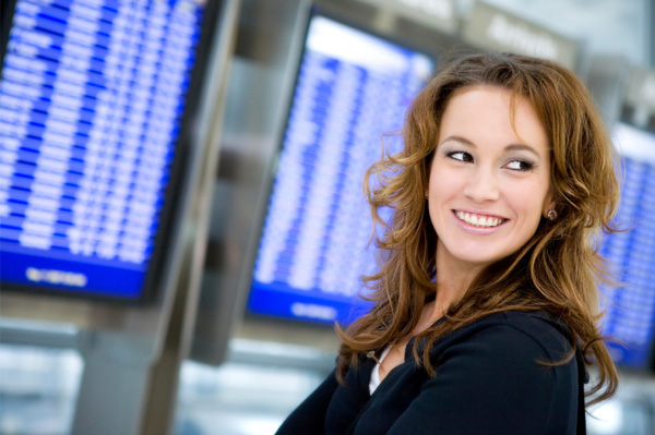Woman in the airport