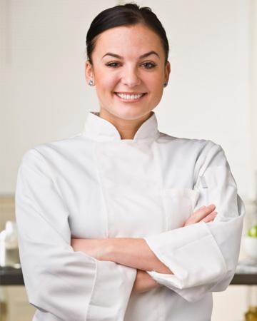 Woman in cooking school
