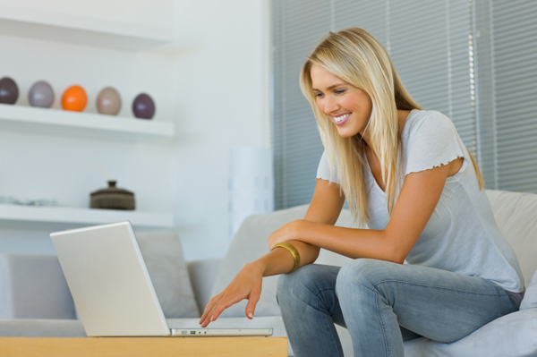 Woman on the Internet