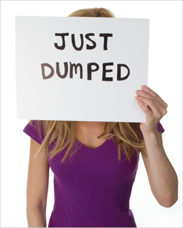 Just dumped woman