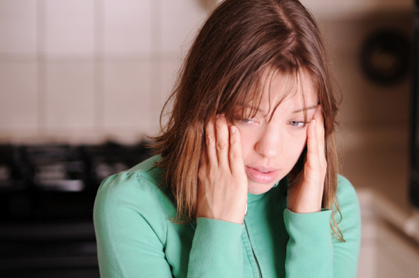 Woman suffering from anxiety