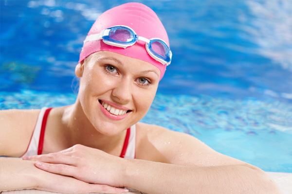 Woman swimmer in pool